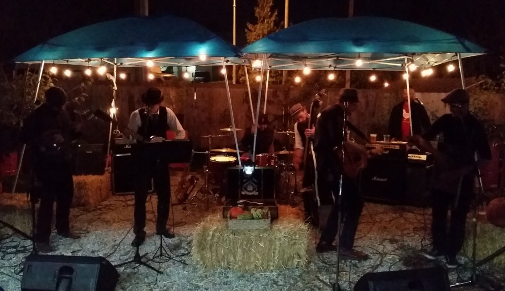 I wasn't kidding about the hay bales or washboard.