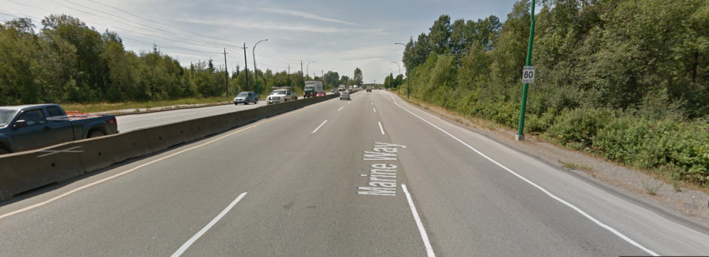Look at this stupid road. Nothing here tells you to go 60km/h, except the sign. Of course everyone goes 80