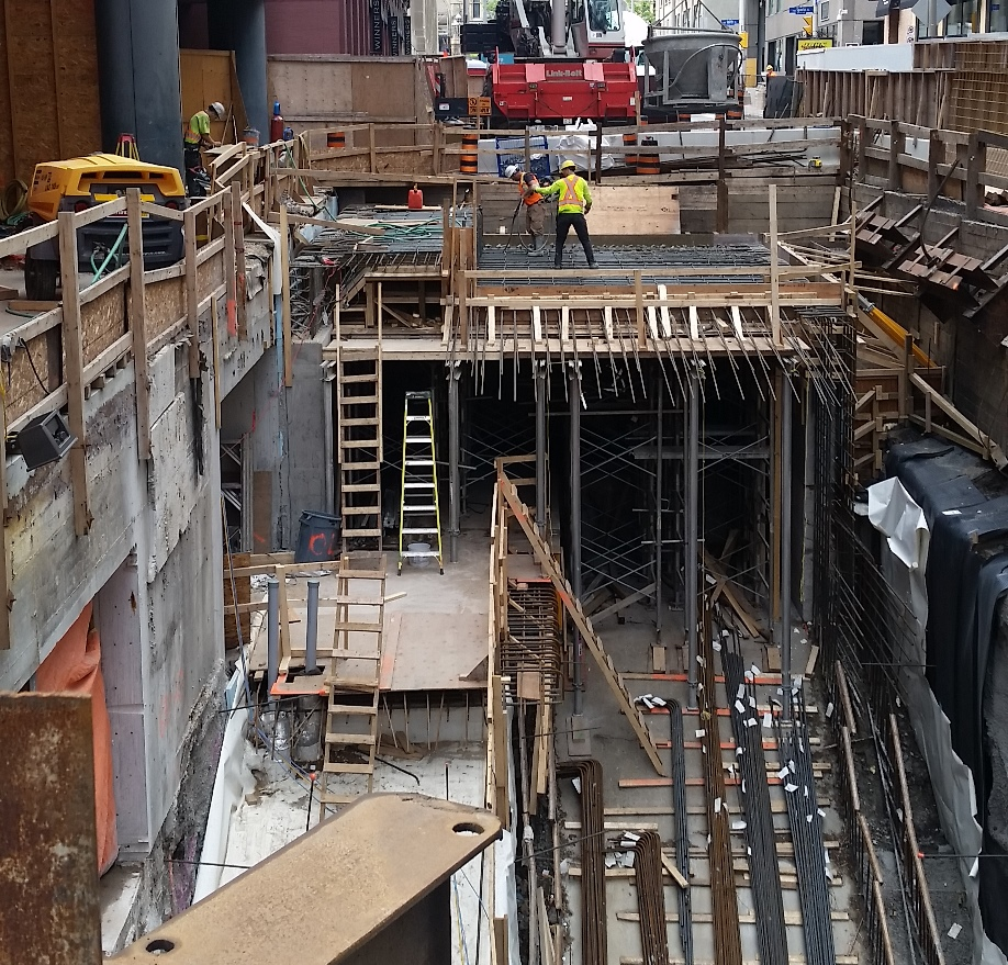 Much of downtown was being dug up to install new subway lines.