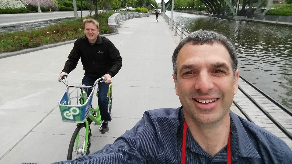 A quick spin between conference/lunch venues is where bike share shines.